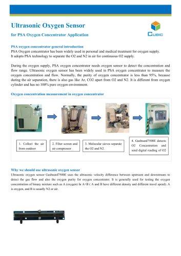Ultrasonic Oxygen Sensor for PSA Oxygen Concentrator Application