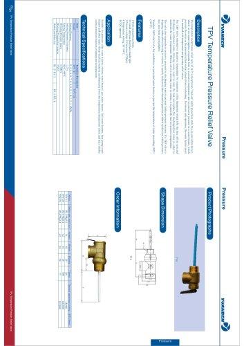 TPV temperature pressure relief valve