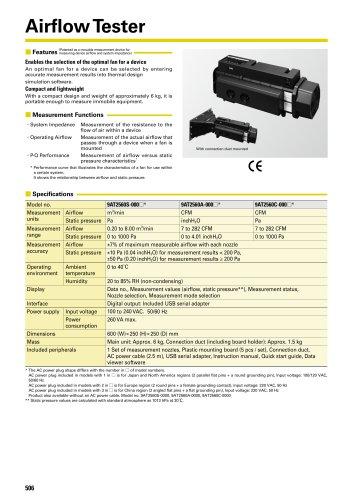 San Ace Airflow Tester Catalog