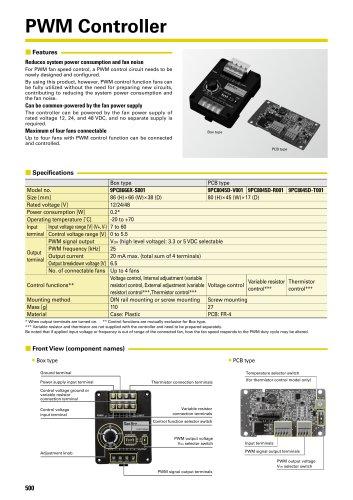 San Ace PWM Controller Catalog