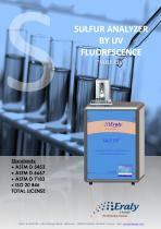 Sulfur analyzer by UV Fluorescence