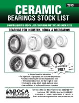 Ceramic Bearings Stocklist