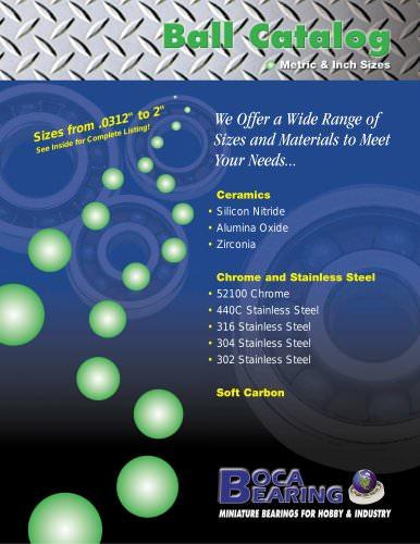 Steel & Ceramic Ball Catalog
