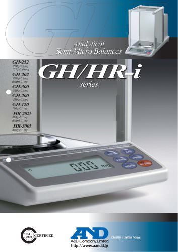 Analytical Semi-Micro Balances/GH Series