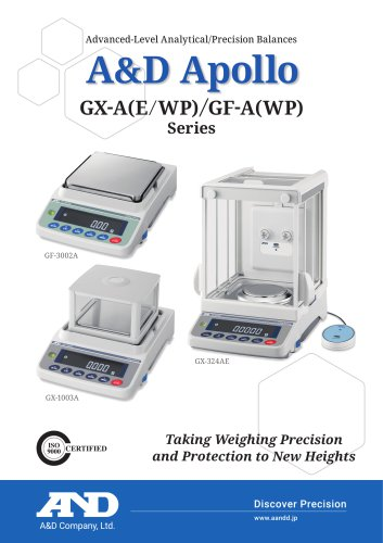 A&D Apollo GX-AE/GX-A/GF-A series of advanced-level analytical/precision balances