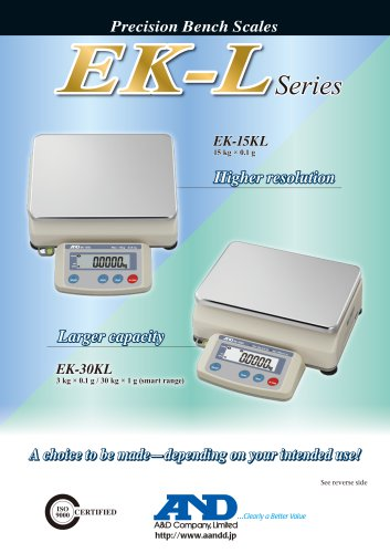 EK-L Series of Precision Bench Scales