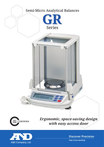 GR Series of Semi-Micro Analytical Balances