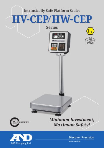 HV-CEP/HW-CEP Series of Intrinsically Safe Platform Scales