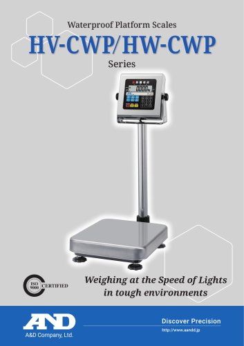 HV-CWP/HW-CWP Series of Waterproof Platform Scales