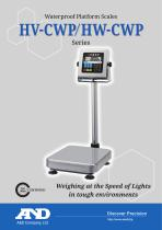HV-CWP/HW-CWP Series of Waterproof Platform Scales - 1