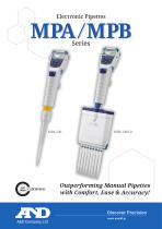 MPA/MPB series of electronic pipettes