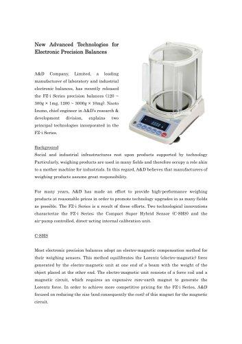 Press Release/FZ-i series