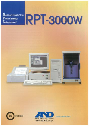 Rigid-body Pendulum Type Physical Properties Testing Instrument, RPT-3000W