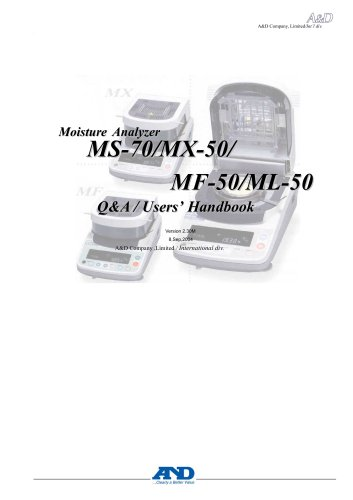 Users handbook for M series