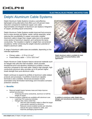 Delphi Aluminum Cable Systems