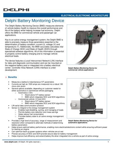 Delphi Battery Monitoring Device