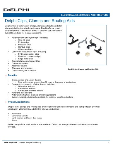 Delphi Clips, Clamps and Routing Aids