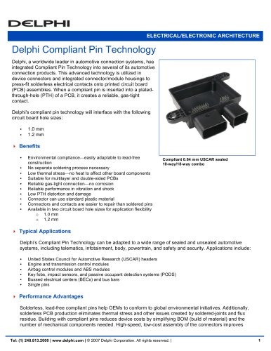 Delphi Compliant Pin Technology