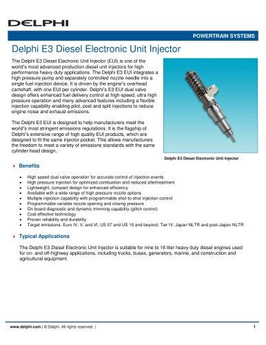 Delphi E3 Diesel Electronic Unit Injector
