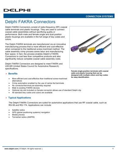 Delphi FAKRA Connectors