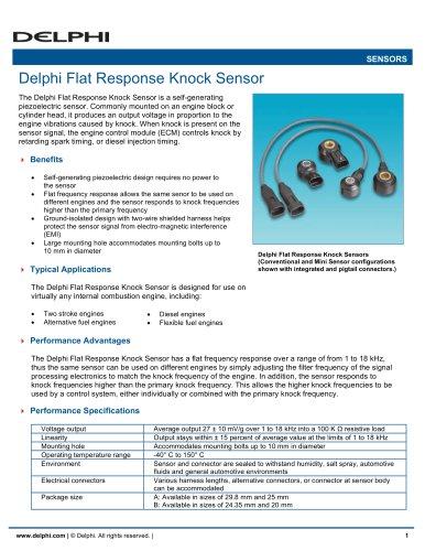 Delphi Flat Response Knock Sensor