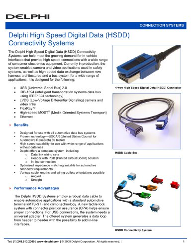 Delphi High Speed Digital Data (HSDD) Connectivity systems