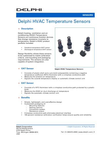 Delphi HVAC Temperature Sensors