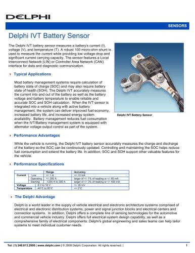 Delphi IVT Battery Sensor