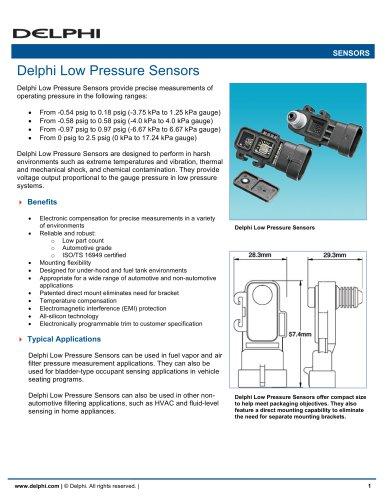 Delphi Low Pressure Sensors