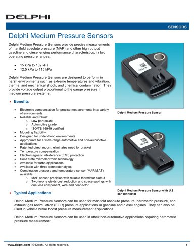 Delphi Medium Pressure Sensors