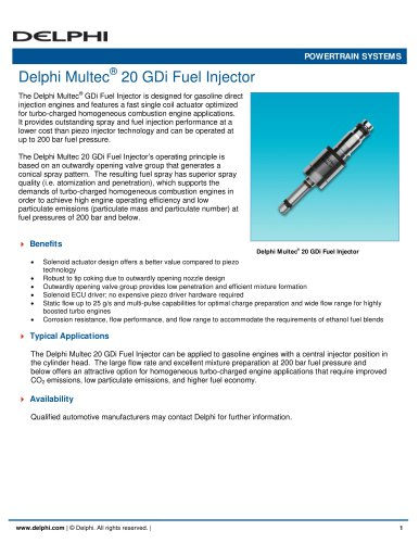 Delphi Multec 20 GDi Fuel Injector