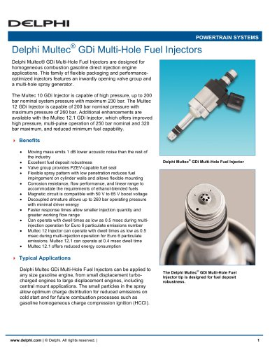 Delphi Multec GDi Multi-Hole Fuel Injectors