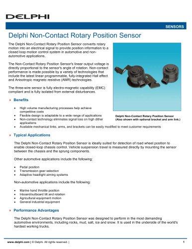 Delphi Non-Contact Rotary Position Sensor