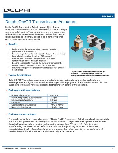 Delphi On/Off Transmission Actuators