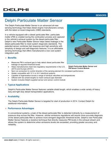 Delphi Particulate Matter Sensor