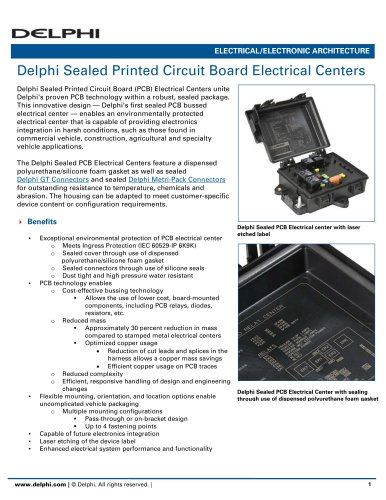 Delphi Sealed Printed Circuit Board Electrical Centers