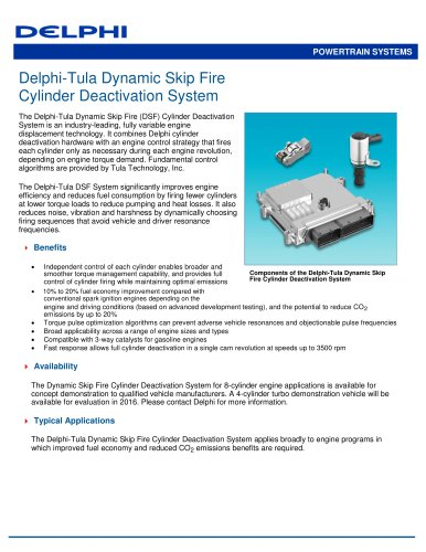 Delphi-Tula Dynamic Skip Fire Cylinder Deactivation System