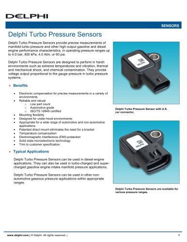 Delphi Turbo Pressure Sensors