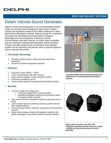 Delphi Vehicle Sound Generator