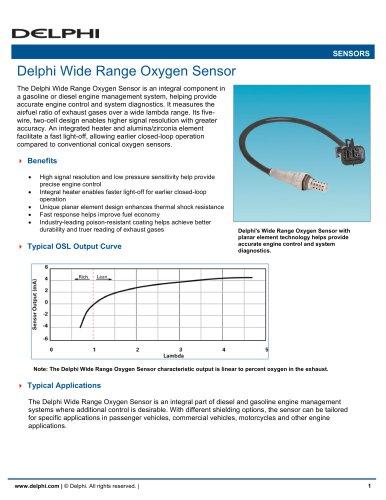 Delphi Wide Range Oxygen Sensor