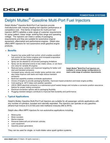 Multec Gasoline Multi-Port Fuel Injectors