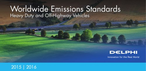 worldwide emission standard (heavy duty and off-highway vehicle