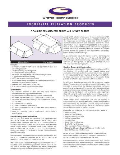 Air Intake Panel Filter