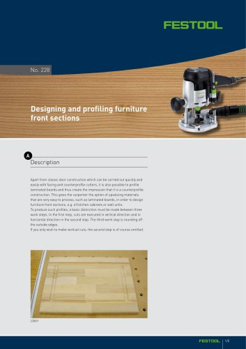 Designing and profiling furniture front sections