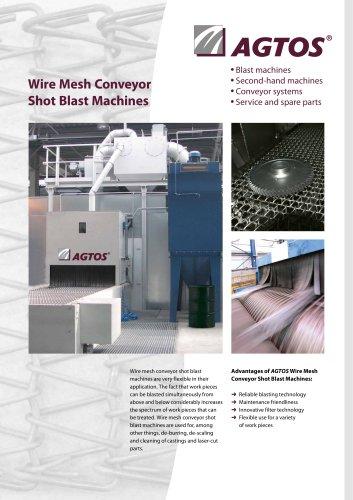Wire mesh conveyor shot blast machine