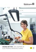 LED lighting in electronics manufacturing