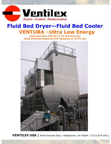 Fluid Bed Dryer?Fluid Bed Cooler For VENTURA ?Ultra Low Energy