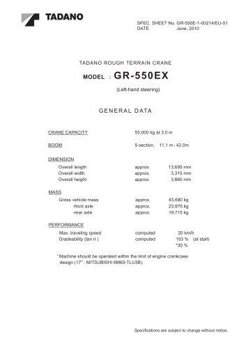 GR-550EX