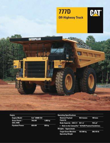 777D Caterpillar Global Mining PDF Catalogs Technical