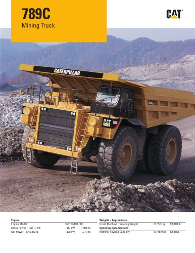 789C - Caterpillar Global Mining - PDF Catalogs | Technical Documentation |  Brochure
